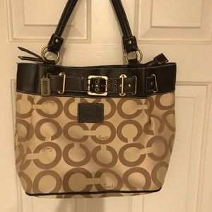 """Coach"" hobo bag."